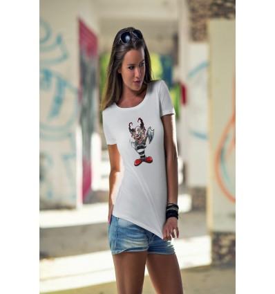 Дамска тениска с щампа Ax Clown