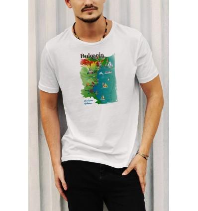 Мъжка тениска с щампа Bulgaria - Black Sea