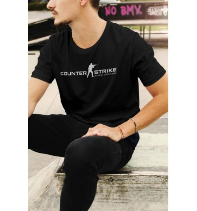 Мъжка тениска с щампа CS GO