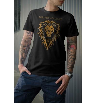 Мъжка тениска с щампа For the Alliance