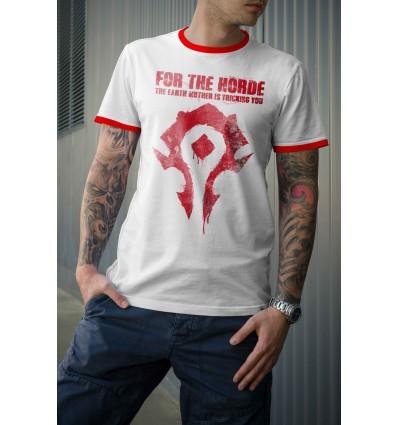 Мъжка тениска с щампа For the Horde