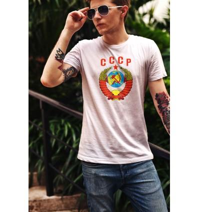 Мъжка тениска с щампа CCCP Gerb
