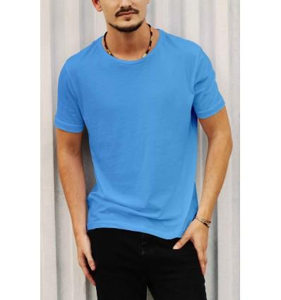 Тениска в светло синьо