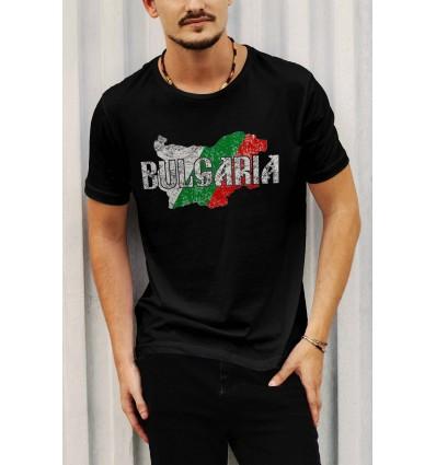 Мъжка тениска с щампа BG Map