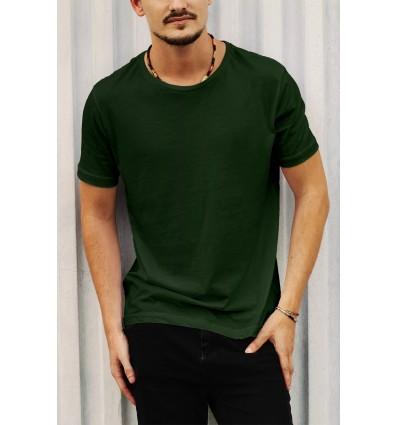 Тениска в тъмно зелено