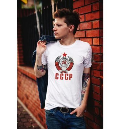 Мъжка тениска с щампа CCCP Zvezda