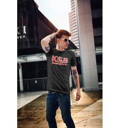 Мъжка тениска с щампа KGB Аgent