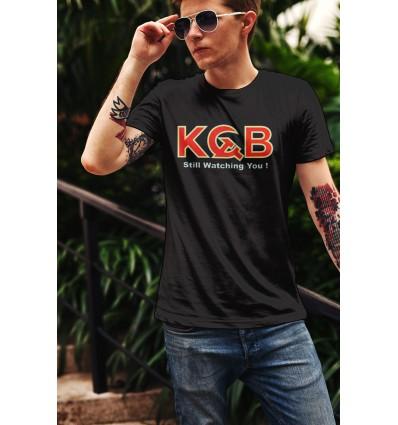 Мъжка тениска с щампа KGB Still Watching You