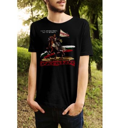 Мъжка тениска с щампа Хан Крум Патриот
