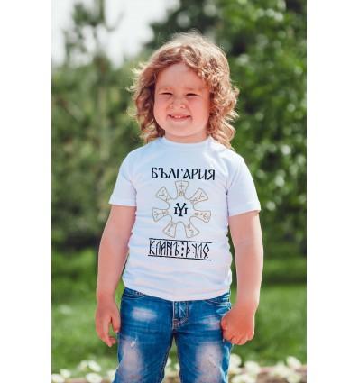 Детска тениска с щампа Rozeta