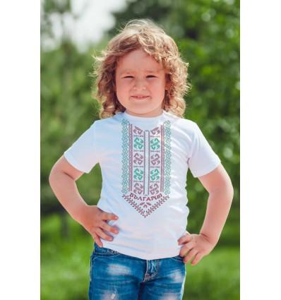Детска тениска с щампа Шопска шевица