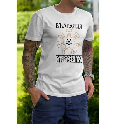 Мъжка тениска с щампа Rozeta