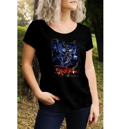 Дамска тениска с щампа Dragon Rider