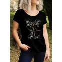 Дамска тениска с щампа Gravestone Reaper F