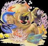 Fish in spacesuit