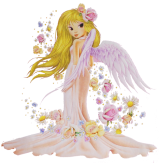 Angel with blond hair