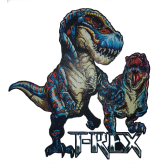 T-Rex Blue  and Red